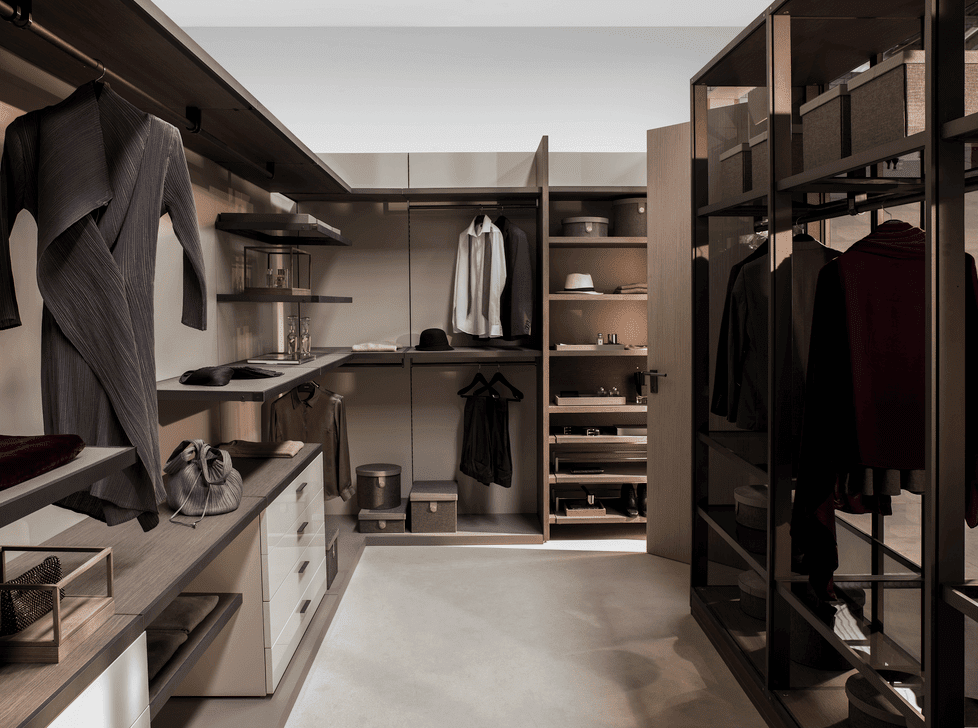 Closets are as glamorous as bedrooms.
