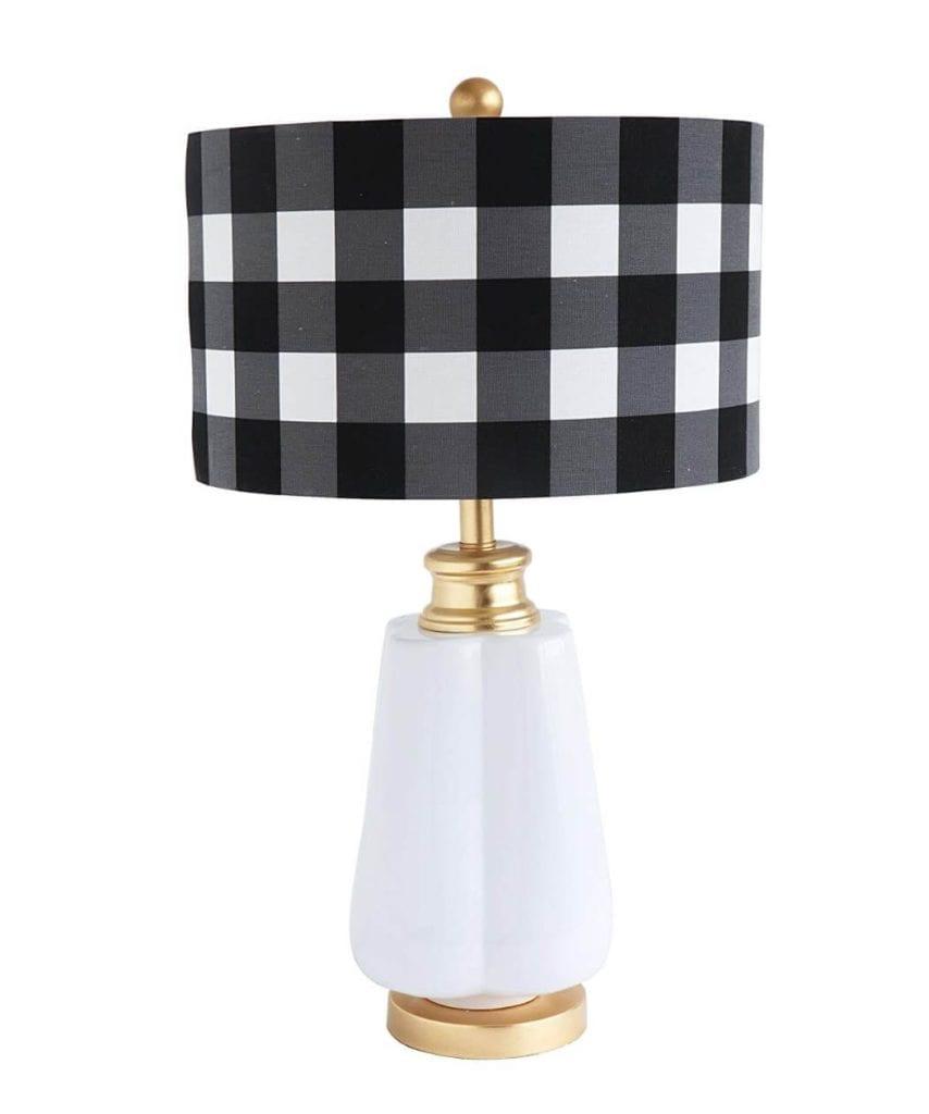Plaid Home Decor Lamp