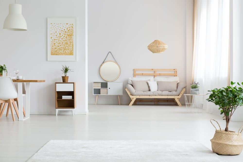 Partially Open Floor Plan Minimalism Style