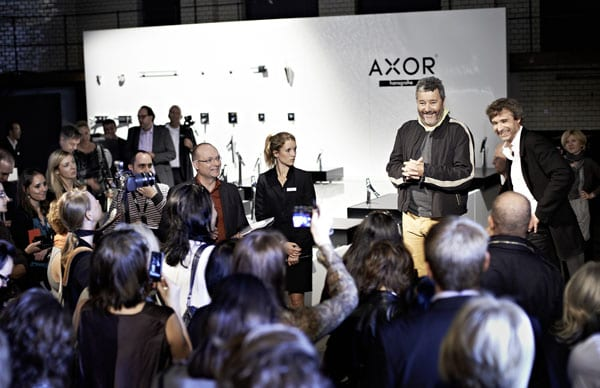 Philippe Starck answers press questions in Berlin