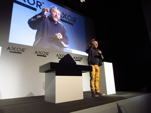Philippe Starck presenting Axor Starck Organic range in Berlin