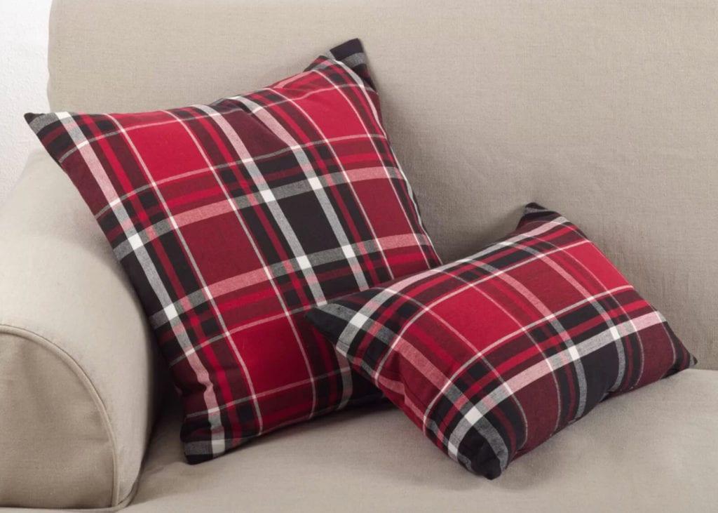 Red Plaid Pillows