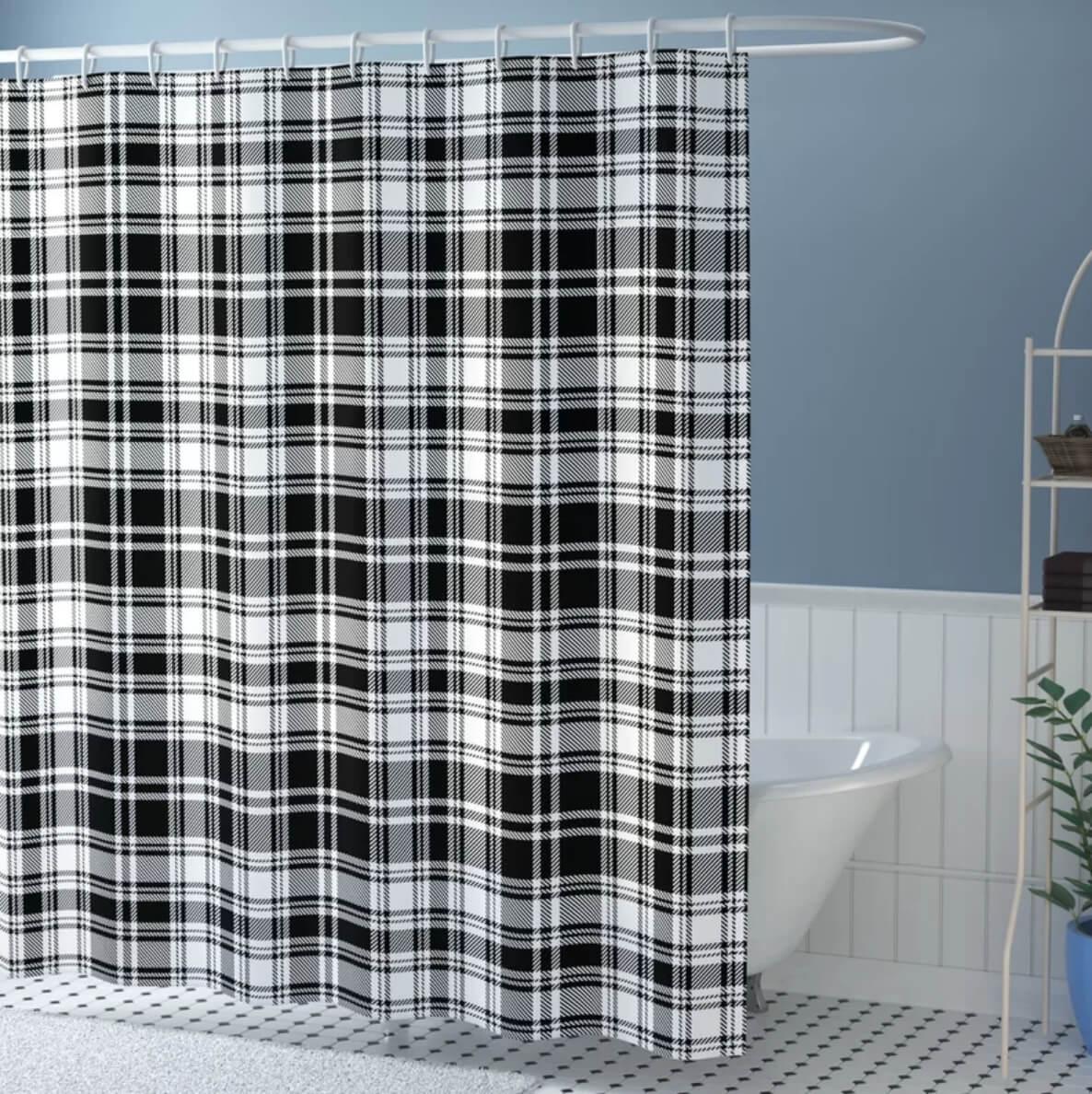 Plaid Shower Curtain Wayfair