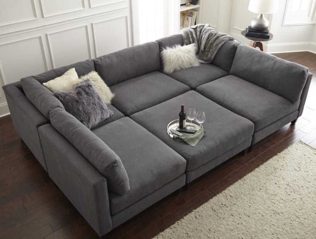 Sectional Sofa Designs Ottoman Puzzle