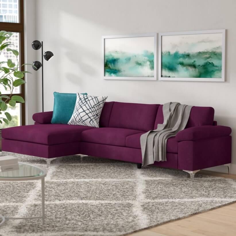 Sectional Sofa Designs Purple Sofa