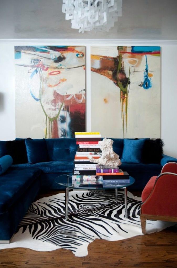 Sectional Sofa Designs Blue Velvet