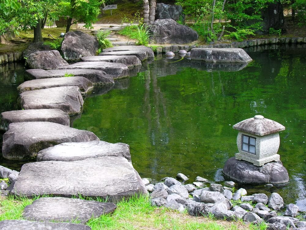 Stepping Stone Pathways Water Feature