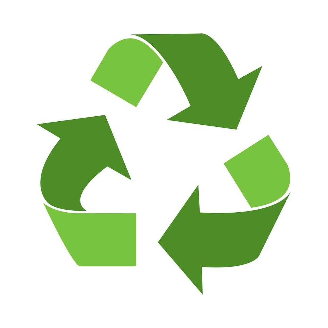 Sustainable Wall Coverings Recycling Symbol