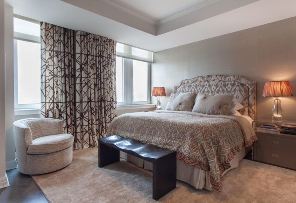 Tone on Tone in the Bedroom Focal Point