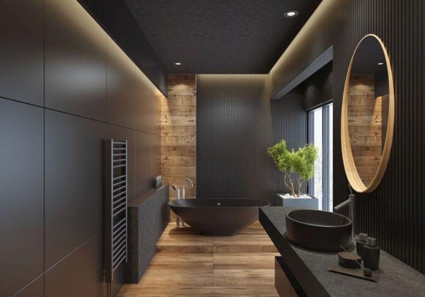 Color black bathroom