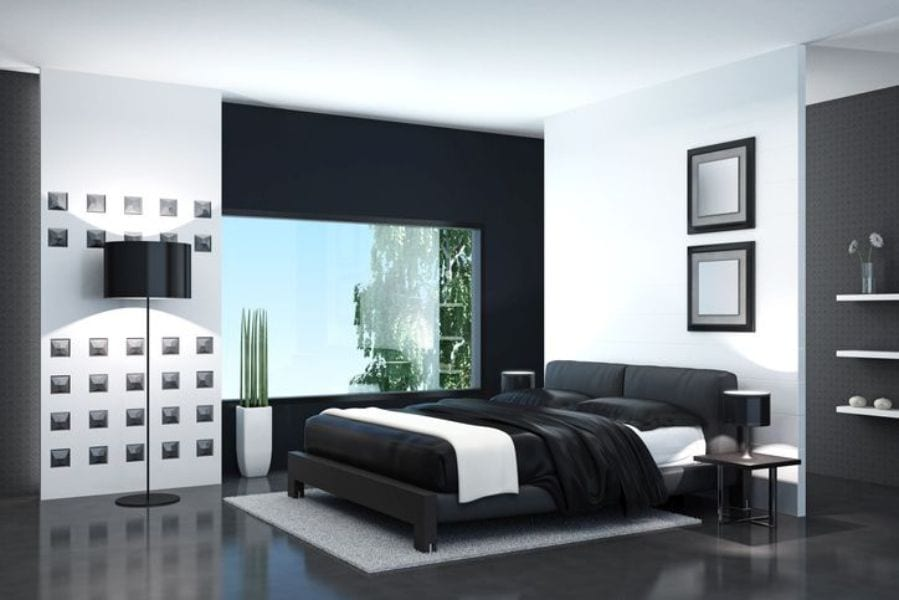 Color black accent wall