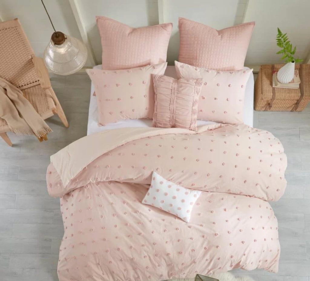 Pastel dorm bedding set
