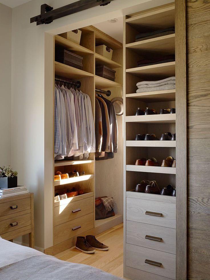 Walk-in Closet for Men - Masculine closet design (19)