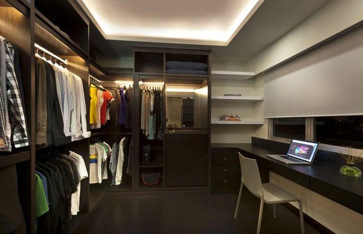 Walk-in Closet for Men - Masculine closet design (27)