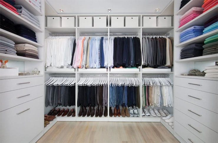Walk-in Closet for Men - Masculine closet design (30)