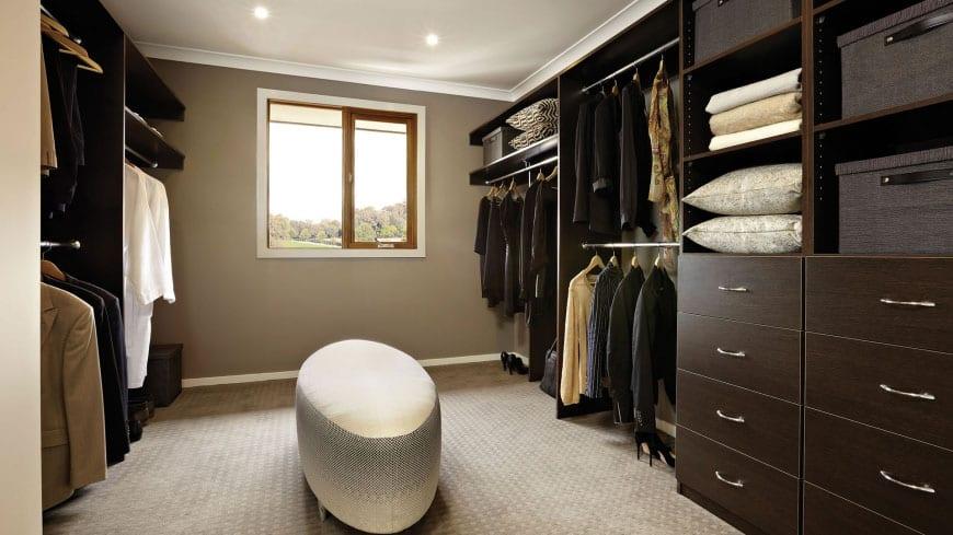 Walk-in Closet for Men - Masculine closet design (6)