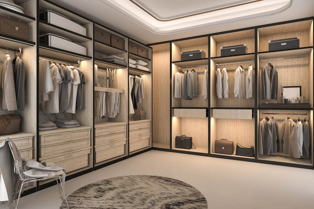 Walk-in Closets Lighting Style