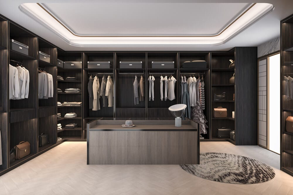 Walk-in Closets Wood Style
