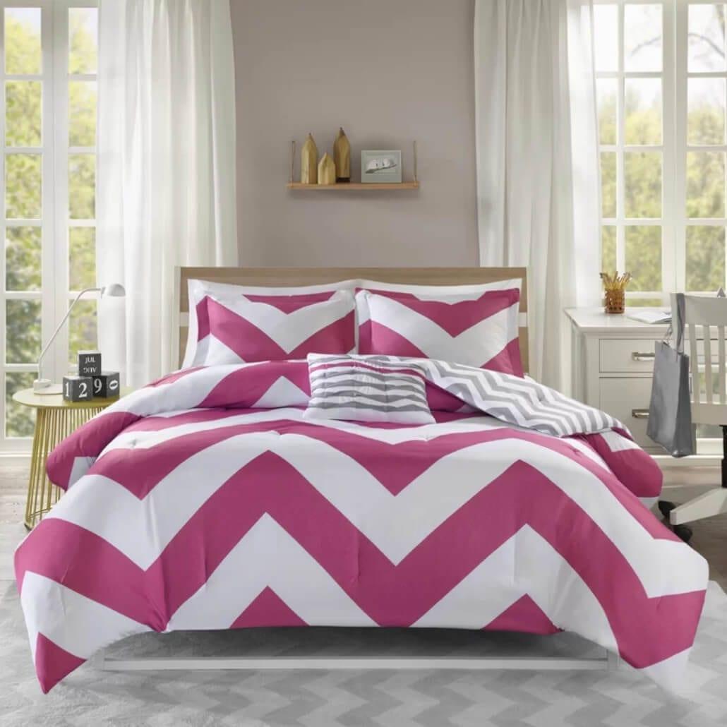chevron dorm room bedding