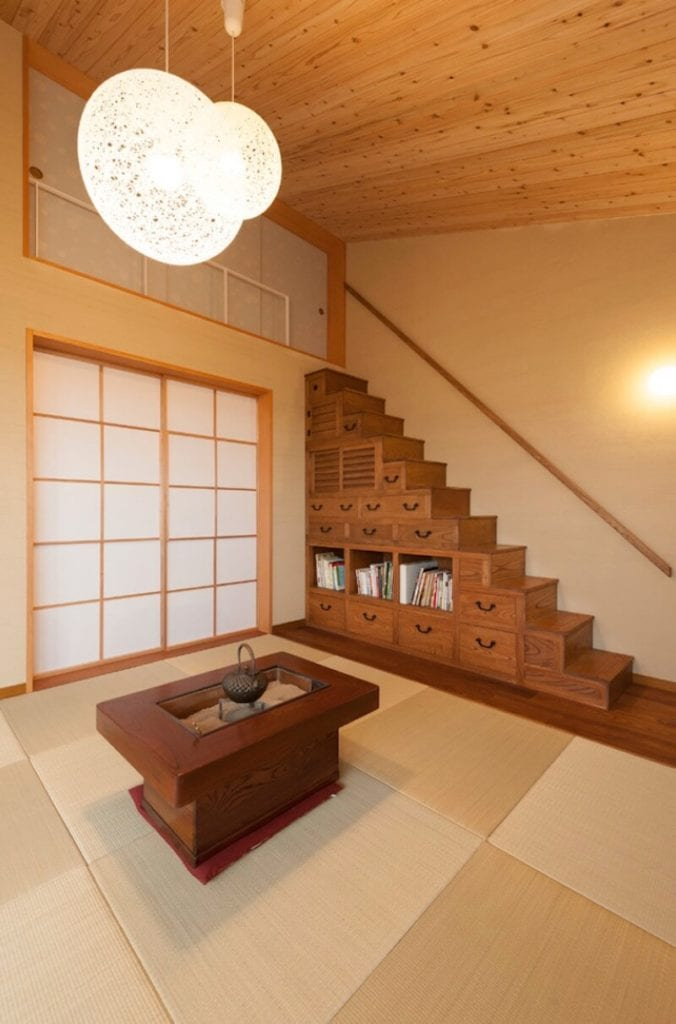 Zen Living Room Japanese Style Room
