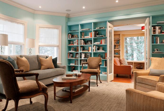 accent bookshelf