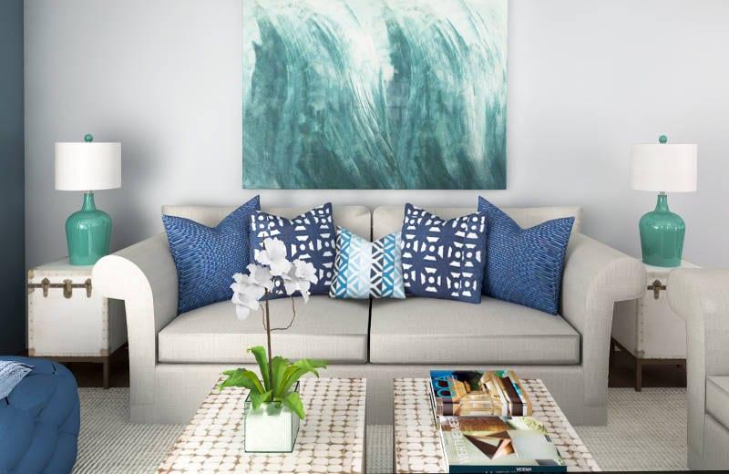 modern coastal living decor