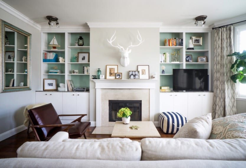 how to declutter bookshelves