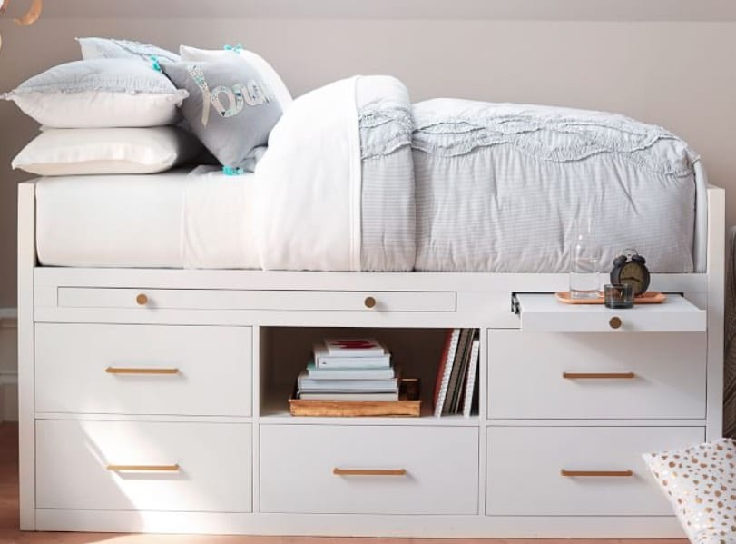 best storage beds with many drawers