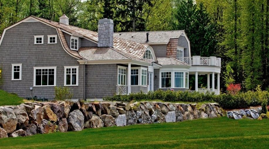 cedar shingle house white trim