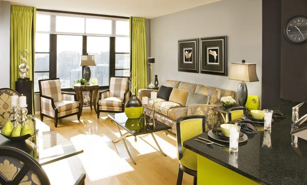 color - open floor plan + lighting