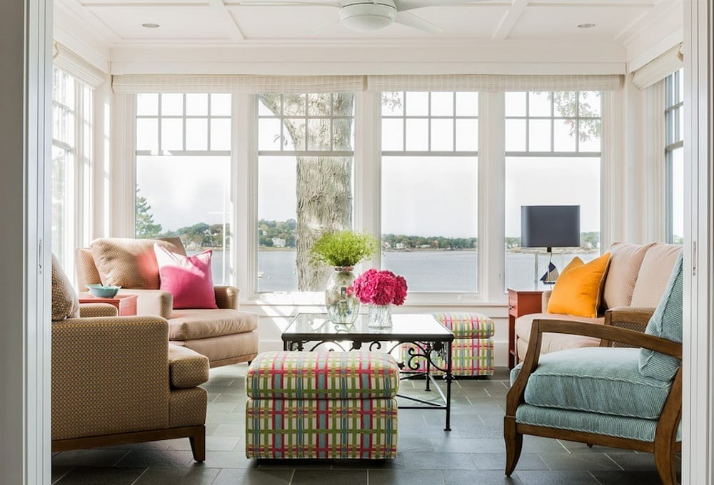 Create a comfortable environment that will make potential buyers feel at home. Image Via: Elizabeth Swartz Interiors