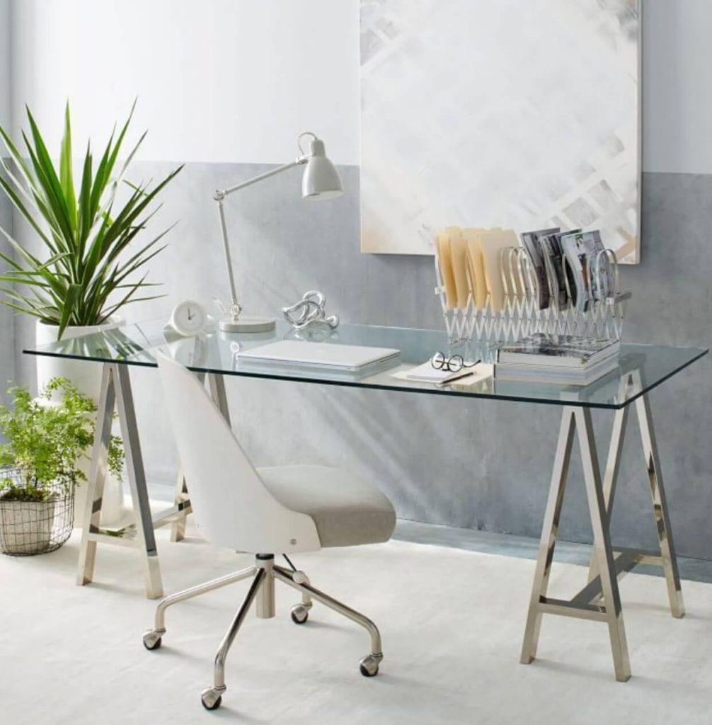 Glass Home office desk