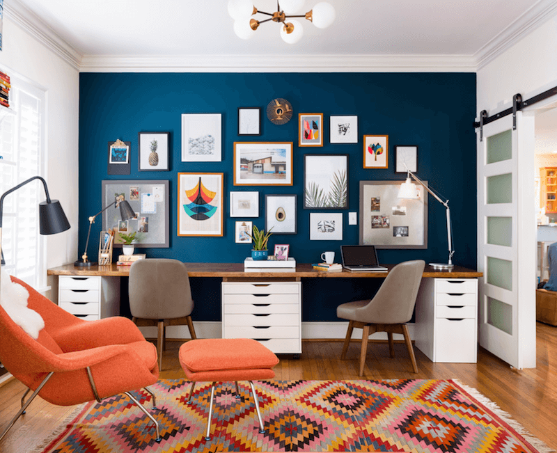 decorating a home office - feel like home