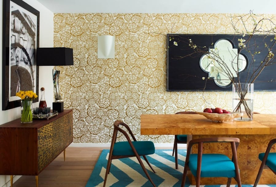 Today's designs give wallpaper a modern twist.