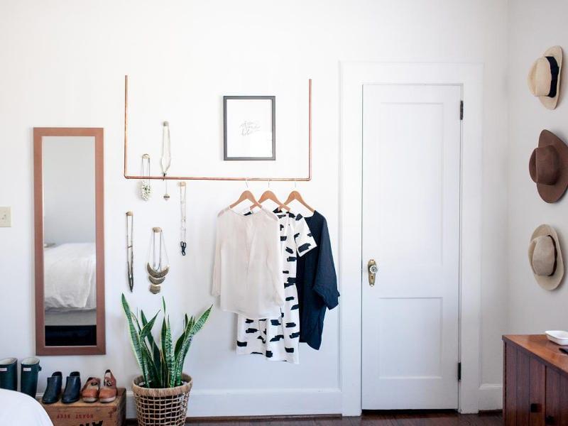 clothing rack alternatives no closet