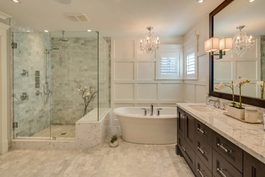 elegant bathroom marble chandelier