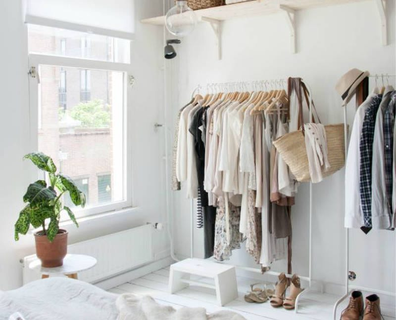 ideas for when you don't have a closet