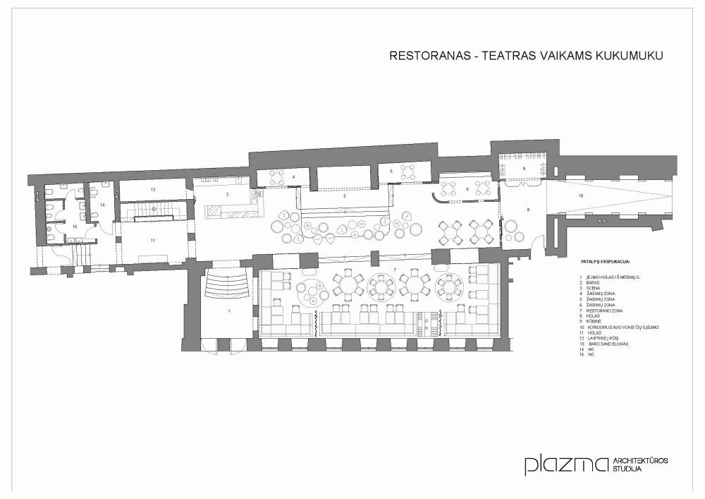 floor plan restaurant
