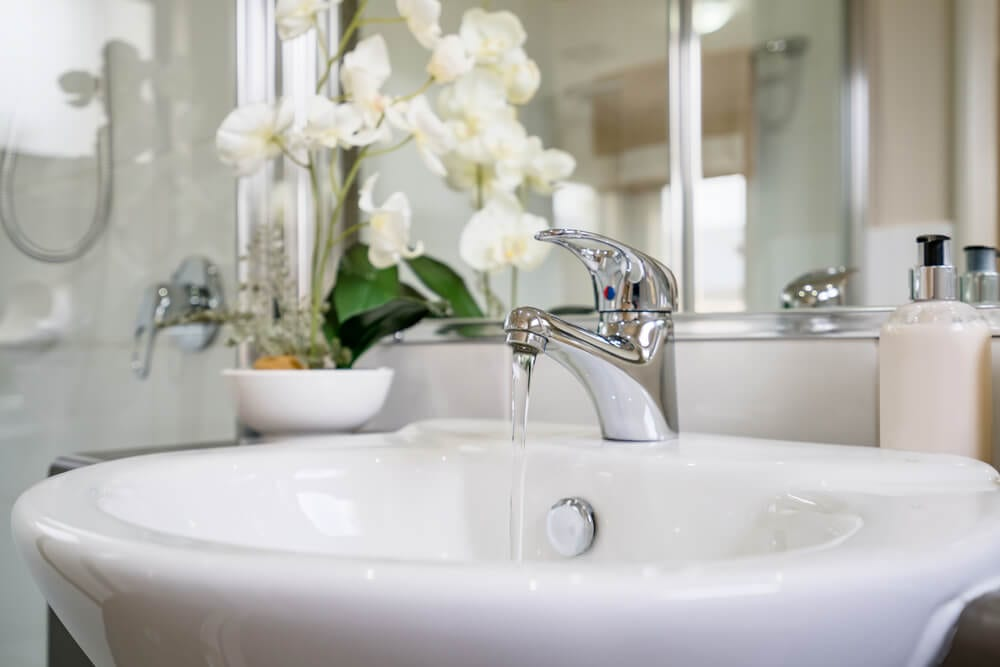 flush your hot water heater - sink