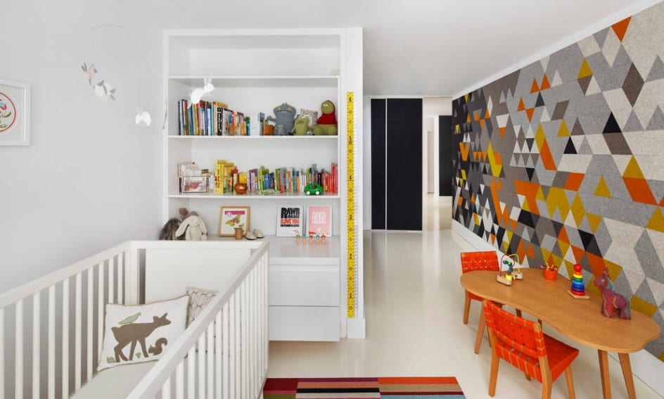 Graphic wallpaper can determine the feel of a space.