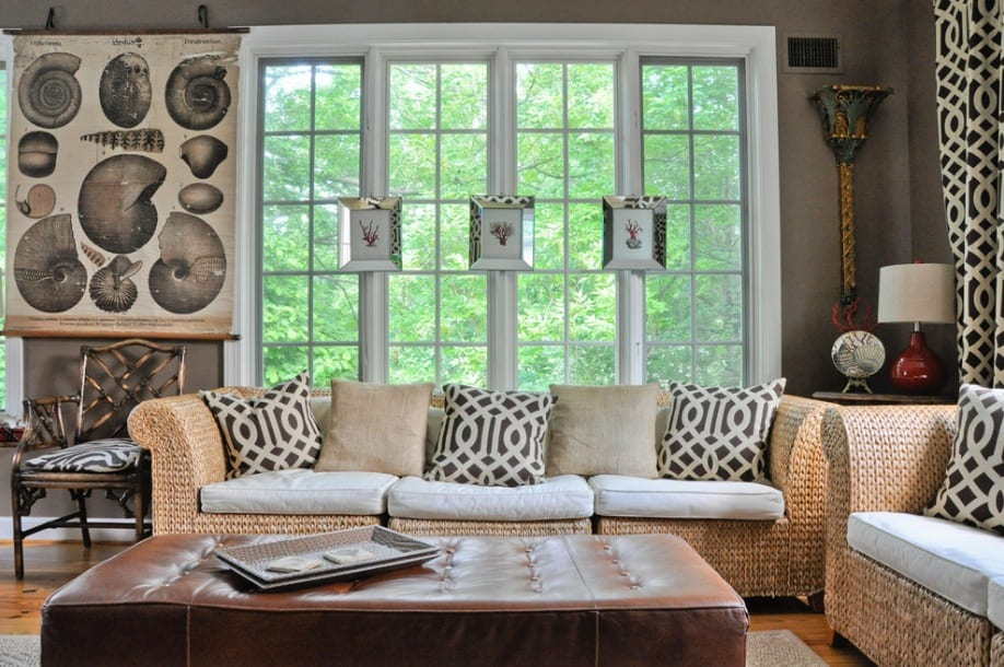 grey living room seashell