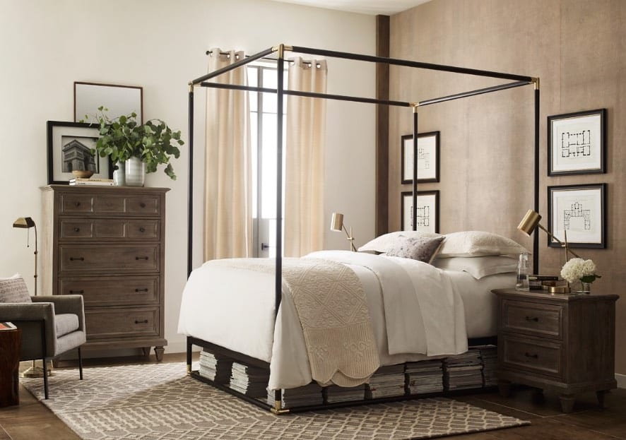 modern 4 poster bed
