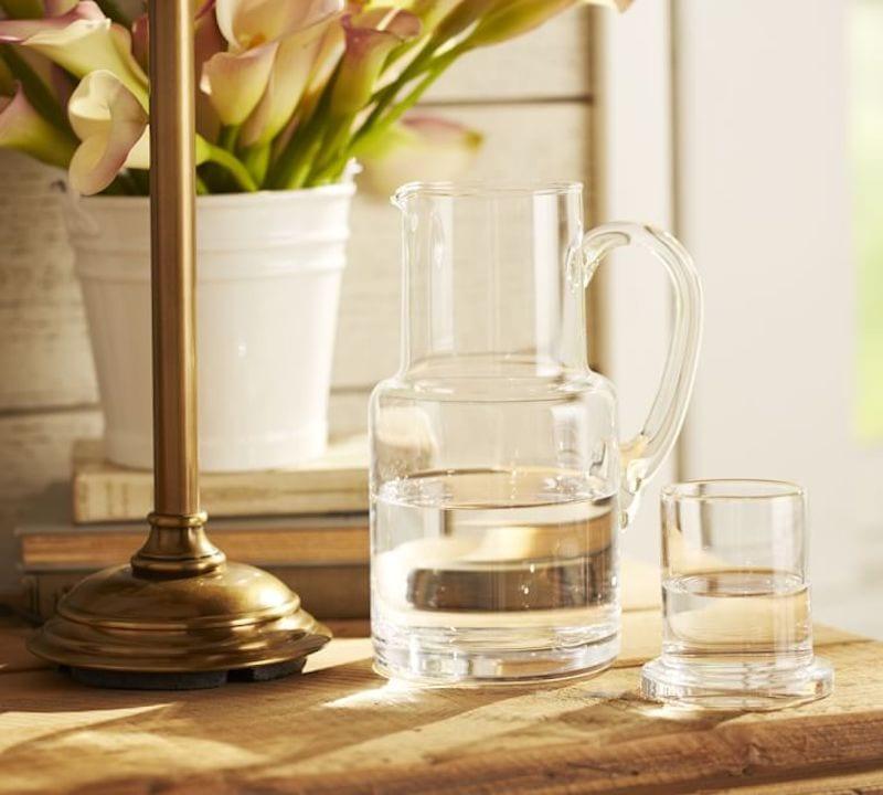guest bedroom essentials - water