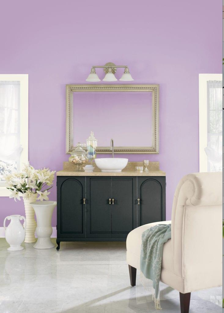 lilac bathroom inspiration
