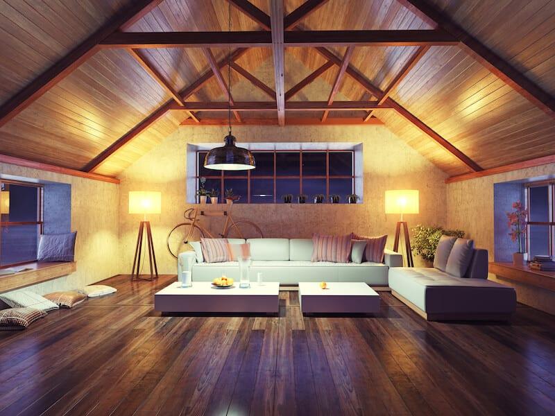 living room ceiling beams 2