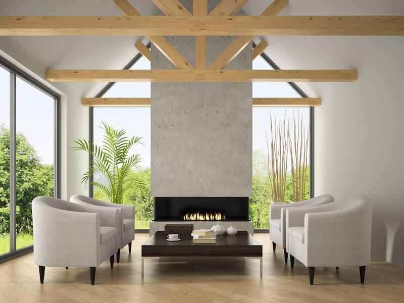 living room ceiling beams 3