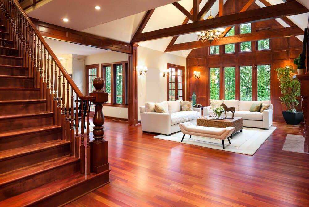 living room ceiling beams 4