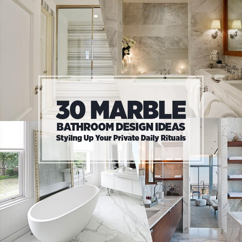 30 Marble Bathroom Design Ideas Styling Up Your Private ...