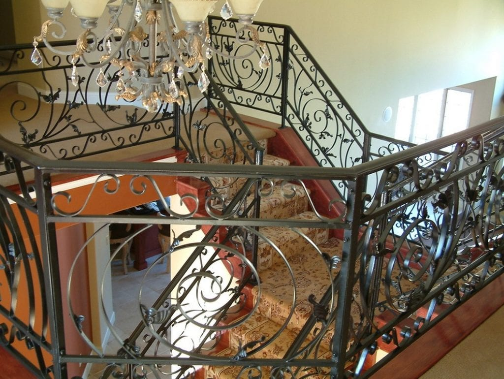 metal interiors_wrought iron staircase