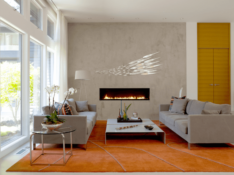 minimalist fireplaces